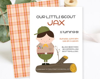 Birthday Party Invitations/Packages - Our Little Boy Scout (Style 13352)