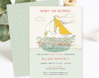 Baby Shower Invitations - Baby on Board (Style 13926)