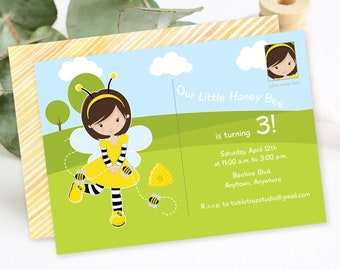 Birthday Party Invitation - Our Little Honey Bee (Style 13375)