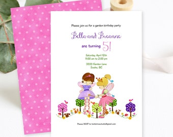 Birthday Party Invitations/Packages - Garden Pixies, Girl's Birthday (Style 13395)