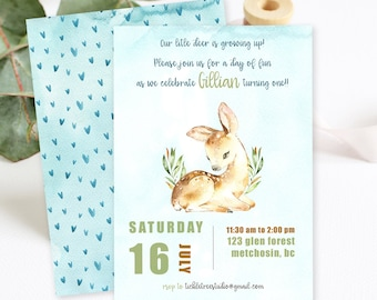 Birthday Party Invitations/Packages - Our Little Deer is Growing Up (Style 13780)
