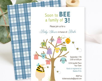 Baby Shower Invitations/Packages - Soon to BEE (Style 13175)