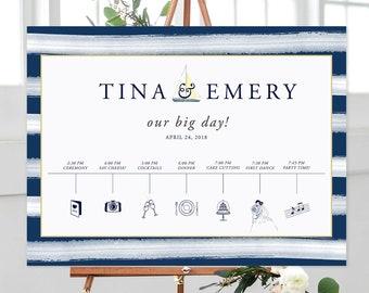 Wedding Timeline/Program/Order of Events - Marina Bay (Style 13795)