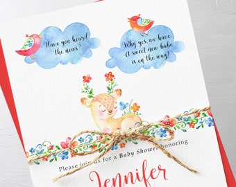 Baby Shower Invitation Packages - Have You Heard the Word? (Style 13742)