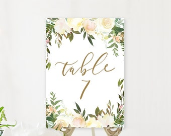 Table Numbers/Table Decor - White Summer (Style 13816)