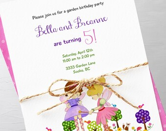 Birthday Party Invitations - Garden Pixies, Girl's Birthday (Style 13395)