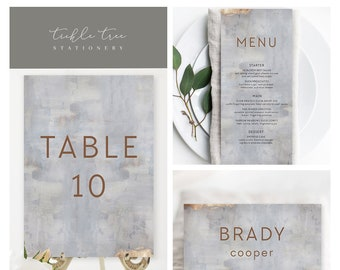 Day Of Packages/Table Decor - Modern/Copper & Grey (Style 13834)