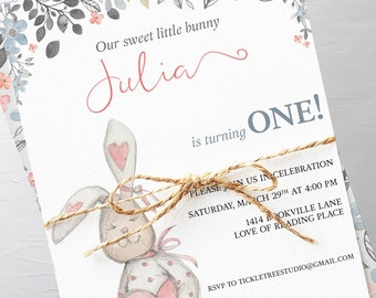 Birthday Party Invitations - Some Bunny is Turning One (Style 13689)