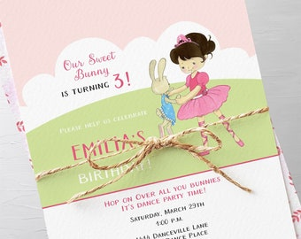 Birthday Party Invitation Packages - Calling all You Bunnies, Girl's Birthday (Style 13390)