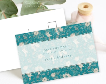 Save the Date Postcards - Vintage Floral Print (Style 13723)