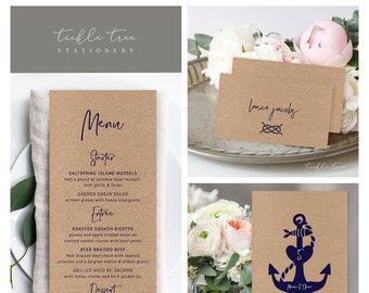 Day Of Packages/Table Decor - Anchors Away (Style 13855)