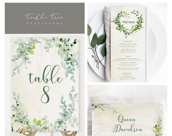 Day Of Packages/Table Decor - Foliage & Watercolours (Style 13828)