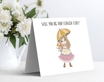 Instant Download - Note Card, Will You Be Our Flower Girl (Style 13955-3)