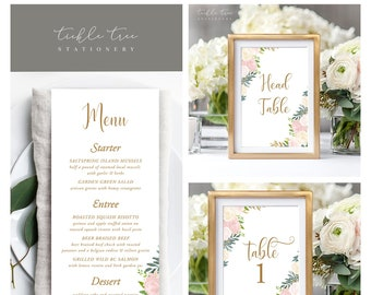 Day Of Packages/Table Decor - Blush & Gold (Style 13870)