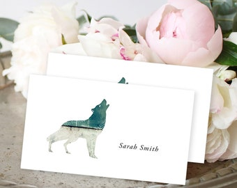 Place Cards - Woodlands Wedding/Wolf (Style 13768)