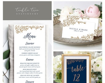 Day Of Packages/Table Decor - Royal Blue & Gold (Style 13868)