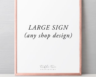 Large Signs - Any Shop Design