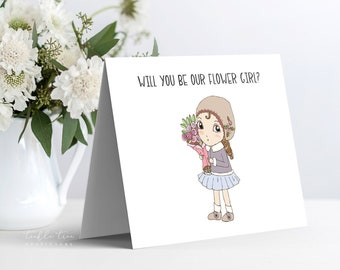 Instant Download - Note Card, Will You Be Our Flower Girl (Style 13955-2)