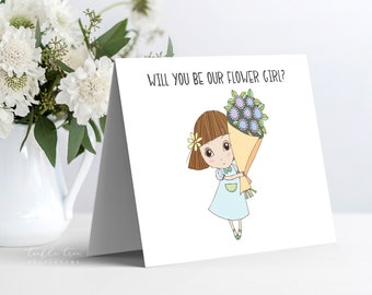 Instant Download - Note Card, Will You Be Our Flower Girl (Style 13955-4)
