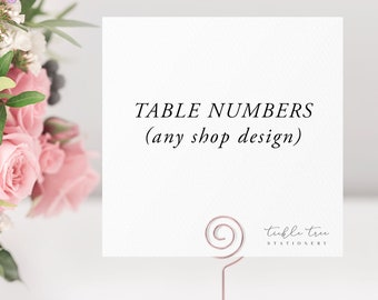Table Numbers - Any Shop Design