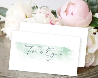 Place Cards, Semi-Custom - Serene (Style 13895)