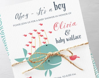 Baby Shower Invitation Packages - Nautical Baby (Style 13154)