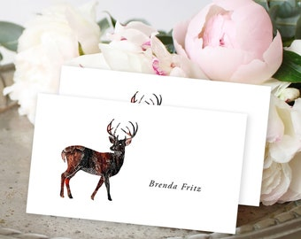 Place Cards - Woodlands Wedding/Deer (Style 13768)