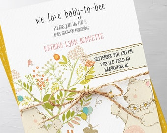 Baby Shower Invitation Packages - We Love Baby to Bee (Style 13707)