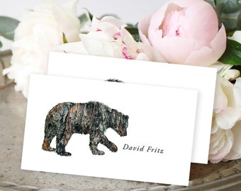 Place Cards - Woodlands Wedding/Bear (Style 13768)