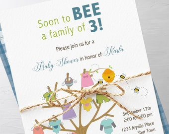 Baby Shower Invitation Packages - Soon to BEE (Style 13175)