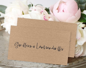Place Cards - Simple Rustic