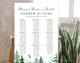 Seating Chart - Rustic Forest (Style 13845)