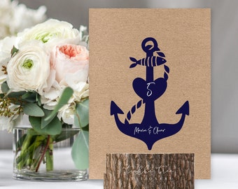 Table Numbers/Table Decor - Anchors Away (Style 13855)