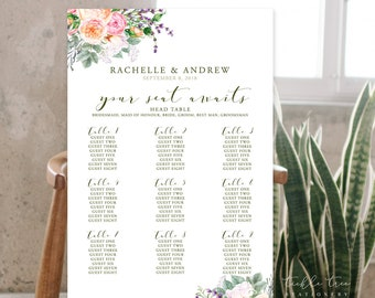 Seating Chart - Farmer's Garden (Style 13759)
