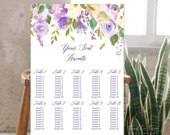 Seating Chart - Purple Bloom (Style 13797)