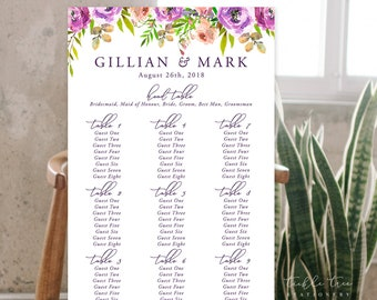 Seating Chart - Peony Love (Style 13764)