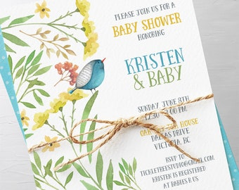 Baby Shower Invitation Packages - New Blooms (Style 13456)