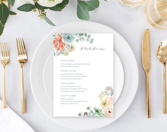 Day of Details - Menus/Design & Printing - Serene (Style 13895)