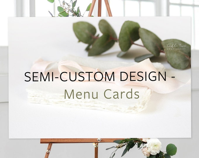 Featured listing image: Menus, Semi-Custom - Made to Match Any Shop Design