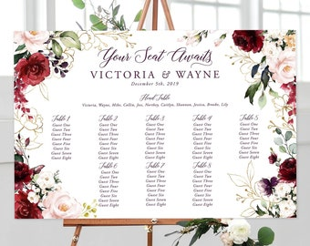 Seating Chart - A Beautiful December (Style 13858)
