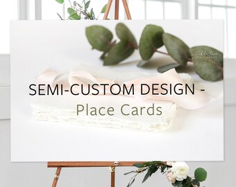 Place Cards, Semi-Custom - Made to Match Any Shop Design