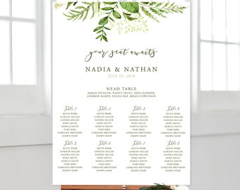 Seating Chart - Whispering Garden (Style 13799)