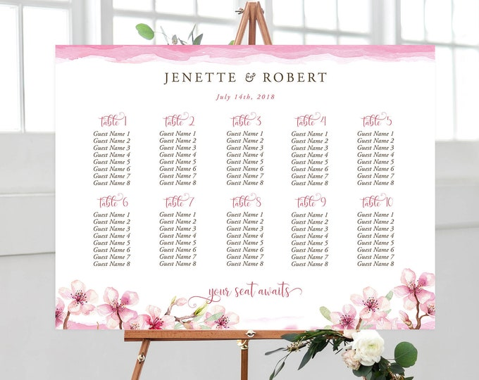 Seating Chart - Cherry Blossoms (Style 13817)