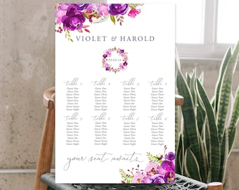 Seating Chart - Purple Passion (Style 13785)