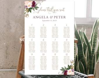 Seating Chart - Wedded Bliss (Style 13758)