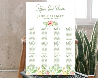 Seating Chart - Flower Market (Style 13850)