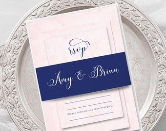 Wedding Invitations - Barely Blush (Style 13966)