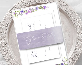Wedding Invitations - Lovely Lavender (Style 13668)