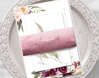 Wedding Invitations (DEPOSIT) - Wedded Bliss (Style 13758)