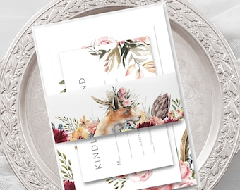 Wedding Invitations - Boho Garden (Style 13981)